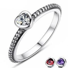 Colored Love Hearts (3 Colours) women's rings, promise rings fo rher