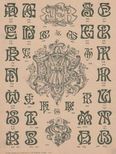 Not that they ever left, but monograms are back. Once the accessory of the aristocratic, the monogram is a vibrant and vital piece of graphic design. Monogram Design, Monogram Fonts, Monogram Letters, Monogram Initials, Script Lettering, Typography Letters, Lettering Design, Logo Design, Ex Libris