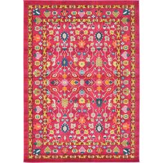 Awesome rug for any space (formal or casual). We have a pink Persian rug like this in our dining room and the busy pattern hides any drips (they come out since its wool, anyway ;)