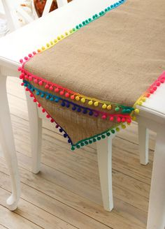 Creative examples of tablecloth Source by livemaster – Selbermachen – DIY Ideen Pom Pom Crafts, Burlap Crafts, Diy Home Crafts, Decoration Evenementielle, Crochet Decoration, Ramadan Crafts, Ramadan Decorations, Stool Cover Crochet, Burlap Table Runners