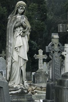 Foggy Cemetery Statue | Flickr - Photo Sharing!