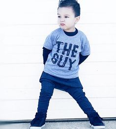 """""""THE GUY"""" Toddler Tee and Stretchy Denim-like Trousers by Wee Monster.  www.weemonster.net"""