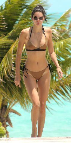 Kendall Jenner in a Nude Bikini | InStyle.com