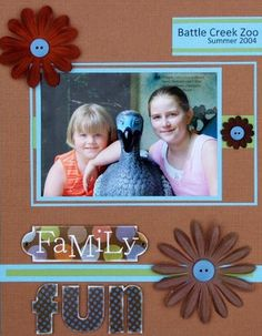 How to Mat a Photo for Scrapbooking: Scrapbook Page Idea - Layout Idea for a Triple Matted Photo on a Scrapbook Page