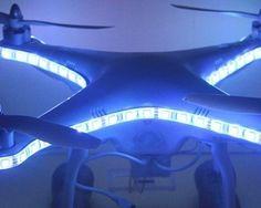 awesome DJI Phantom 2 Phantom 2 Vision Phantom 2 Vision+ Quadcopter Decoration Night Flight Light Strap 81 LED Lamps Strip - Blue