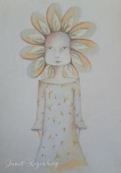 Flower - pencil pastel drawing painting shadowheartchallenge day 4