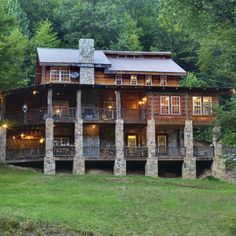 If we get married in Asheville, this is a place where our families could stay--there are five huge log cabins on the property! http://www.wolflaurelcabins.com/