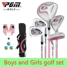 Cheap junior golf club set, Buy Quality golf set directly from China golf club set Suppliers: PGM Junior Golf Clubs Set with Bag for Kids Graphite Shaft. Better than steel shaft for kids. The safest kids golf sets Mens Golf Clubs, Junior Golf Clubs, Golf Clubs For Sale, Kids Golf Set, Girls Golf, Ladies Golf, Golf Now, Golf Card Game, Dubai Golf