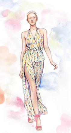 Minni Havas fashion illustration ♥