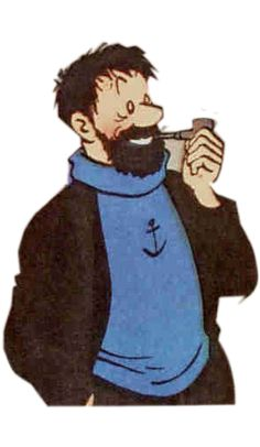 Hergé - the creator and artist of the Tintin comic books was well renowned for his meticulous research, getting. Tin Tin Cartoon, Cartoon N, Cartoon Characters, Fictional Characters, Comic Movies, Comic Books, Haddock Tintin, Captain Haddock, Herge Tintin