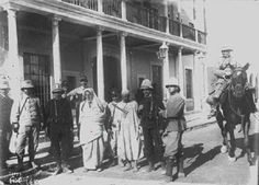 Omar al Mukhtar with Italian soldiers after his capture in September 1931 ..