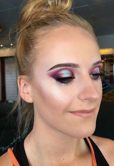 Makeup, 2018, makeupartist, eyebrows, blonde, makeup look, Melkior, Abh Cosmetics, purple, nude lips