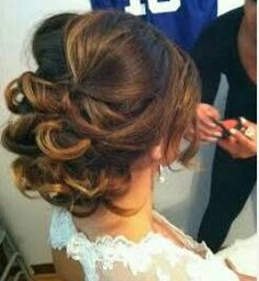 Formal elegant updo with volume