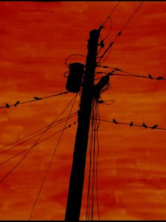 Power lines silhouette (2)