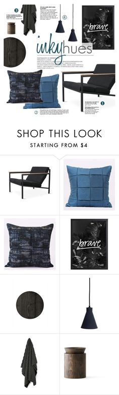 """inky hues"" by ghomecollection ❤ liked on Polyvore featuring interior, interiors, interior design, home, home decor and interior decorating"