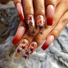 28 Winter Nail Color Trends for Women Fashion 16 - 28 Winter Nail Color Trends for Women Fashion : homedesigndecorid… - Cute Acrylic Nail Designs, Fall Nail Designs, Beautiful Nail Designs, Fall Acrylic Nails, Fall Nail Art, Fall Nail Colors, Cute Nails, Pretty Nails, November Nails
