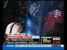 C5N CHILE, RESCATE DE MINEROS: BAJÓ EL PRIMER RESCATISTA