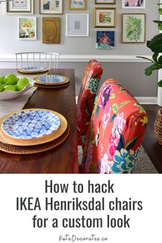 Want to level up your IKEA Henriksdal chairs? Then here's the perfect IKEA hack for the Henriksdal chair: A custom cover to take your chair from boring to beautiful. This blogger shares her secrets for taking your IKEA Henriksdal chairs to the next level. You'll be amazed that your IKEA dining chairs can look this good! #diningchairs #ikeahack #ikeahacks #ikeadiy #diyikea #diningroom #diningroomdecor #diningroomideas Upcycled Home Decor, Diy Home Decor Projects, Colorful Playroom, Colorful Decor, Ikea Dining Chair, Interior Design Guide, Diy Furniture Hacks, Dining Room Colors, Best Ikea