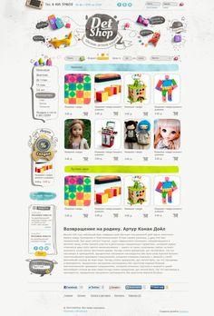 Toys shop by Tatiana Koidanov, via Behance
