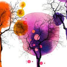 Creative Sketchbook: Vibrant Watercolour Illustrations by Stina Persson! By krissi smith Watercolor Trees, Watercolor And Ink, Watercolor Illustration, Watercolor Paintings, Stina Persson, Watercolor Techniques, Pics Art, Art Plastique, Tree Art