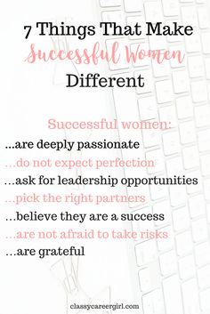 Women differ in their attitude towards life and their success levels are different, too. There's a difference in mindset and leadership in successful women who try to improve themselves as much as possible throughout their lifetime. Successful women have these 7 traits in common.