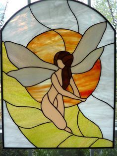 Google Search Stained Glass Angel, Stained Glass Projects, Stained Glass Patterns, Mosaic Glass, Mosaic Tiles, Glass Art, Beveled Glass, Peter Pan And Tinkerbell, White Clouds