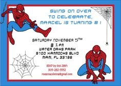 10 best 4 year old spiderman party images on pinterest superhero spiderman birthday invitation stopboris Image collections