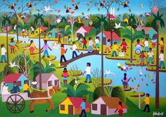 OBRA DO ARTISTA NAIF EDILSON ARAUJO COM AJUR SP (Painting),  50x40 cm por Arte Naif AJUR SP VENDEDOR E DIVULGADOR DA ARTE NAIF BRASILEIRA