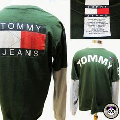 90s Tommy Hilfiger Long Sleeve Tee. #tommyhilfiger #90s #graphictee #tommy #tommyjeans #urban #streetstyle #90sfashion #hiphop