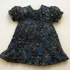 """Nancy Youdelman ~ """"Sophie's Buttons"""" (2000) Mixed media relief 18.5 x 21.5 x 3 in. nancyyoudelman.com © Nancy Youdelman"""