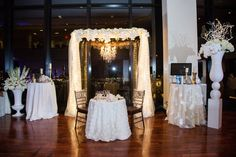Table for two! Check out this stunning setup for the bride and groom.