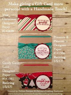 Do it yourself gift card holder too cute crafty stuff diy quick and easy gift card holders using stampin up products solutioingenieria