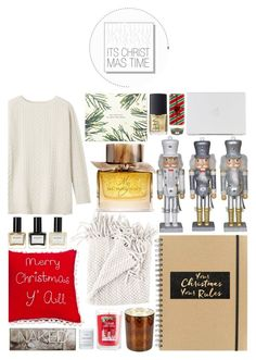 """Merry Christmas!"" by m-olla ❤ liked on Polyvore featuring interior, interiors, interior design, home, home decor, interior decorating, WoodWick, D.L. & Co., Paperchase and Balmain"