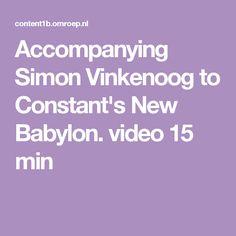 Accompanying Simon Vinkenoog to Constant's New Babylon. video 15 min
