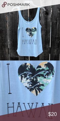 Tank top- only worn once Light blue tank top with soft stretchy material. From Hawaii! Tops Tank Tops
