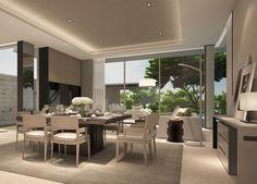 SCDA Mixed-Use Development Sanya, China- Show Villa (Type 3) Lounge Living area