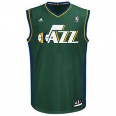 Utah Jazz Adidas NBA Wordmark Replica Jersey (Green)