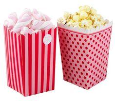 Pink - Popcorn Tüten pink