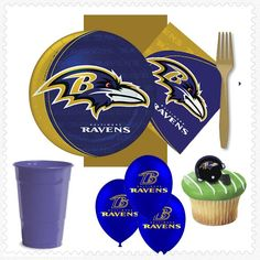 Baltimore Ravens Party for 16! Just unpack it & party! #superbowl
