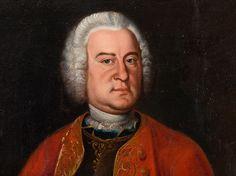 J. C. Bechthold, Höfisches Herrenporträt, Ölgemälde, 1743