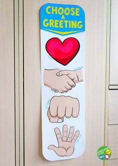 Choose a Greeting posters have become pretty popul Classroom Rules, Classroom Displays, Preschool Learning, Kindergarten Classroom, Classroom Themes, Classroom Activities, Activities For Kids, First Day Icebreakers, School Behavior Chart