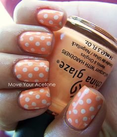 *Gasp!* i think i just pooped in my pants a little. Orange and white polka dot nails!!!!!!!!!!!!!!!!!!