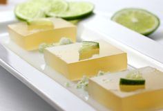 Margarita Lime Jello Cubes