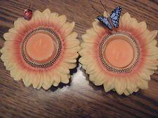 Auringonkukka - kynttiläsomistepari