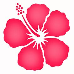 simple hibiscus flower; probably get it in purple - Google Search
