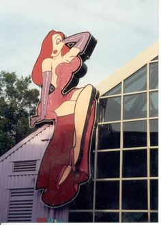 The giant sign over the Jessica Rabbit Shop at Pleasure Island in WDW.  Her leg would swing back and forth.