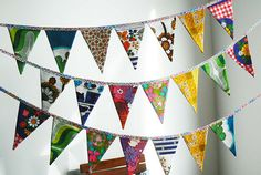 Every home needs a recycled vintage bunting!! @Camille Condon