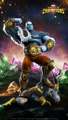 Tryco Slatterus, The Champion of the Universe. Marvel Comic Character, Comic Book Characters, Marvel Characters, Contest Of Champions, Ssj3, Fantasy Art Men, Marvel Villains, Star Children, Hero Arts