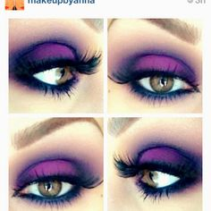 Deep purple Smokey eye. Blue shading?