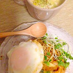 2013.8.26 - 12件のもぐもぐ - ナシゴレン、じゃがいものスープ by nanananna